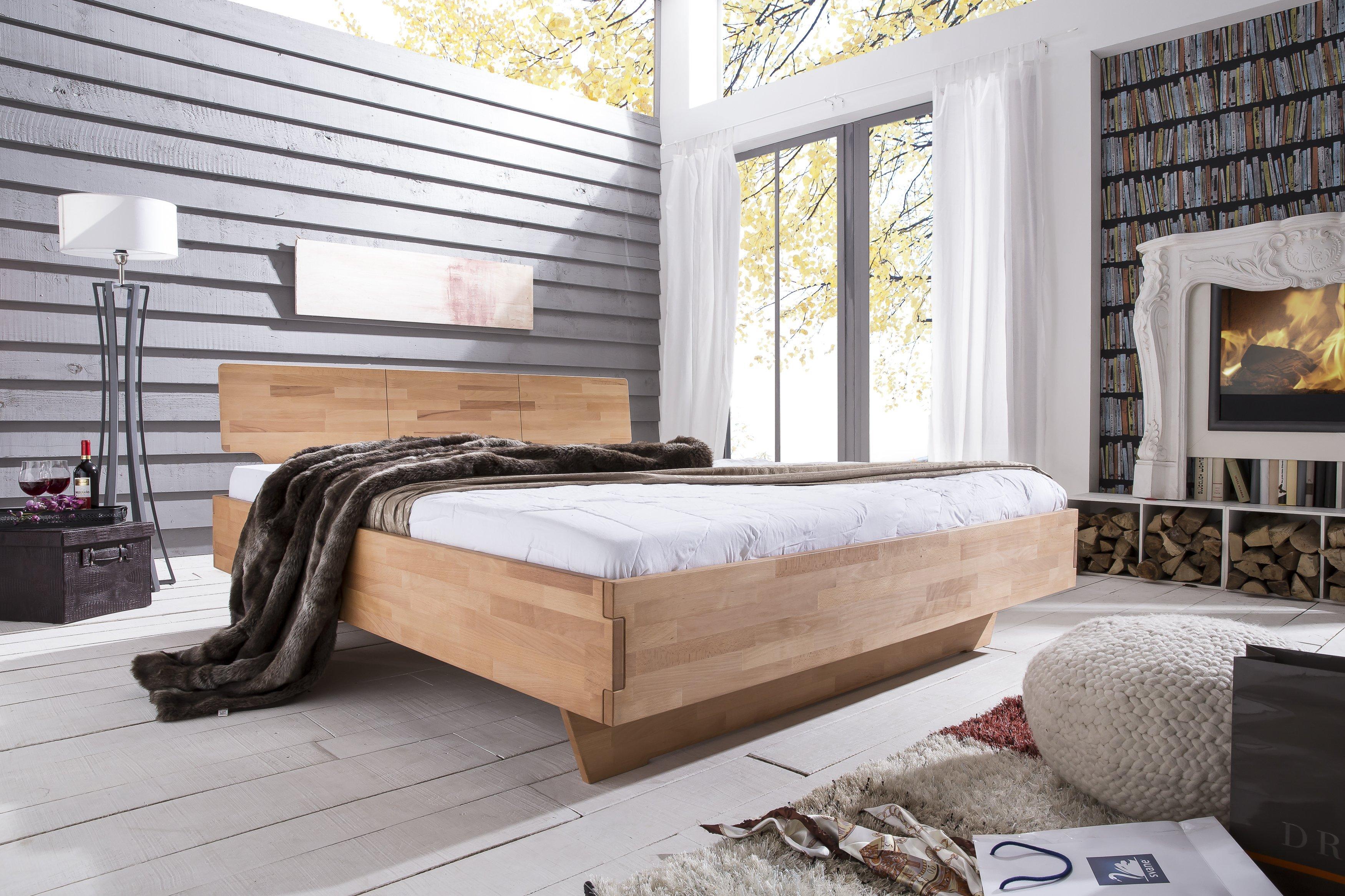 Massiv Holz Bett Cielo von Woodlive