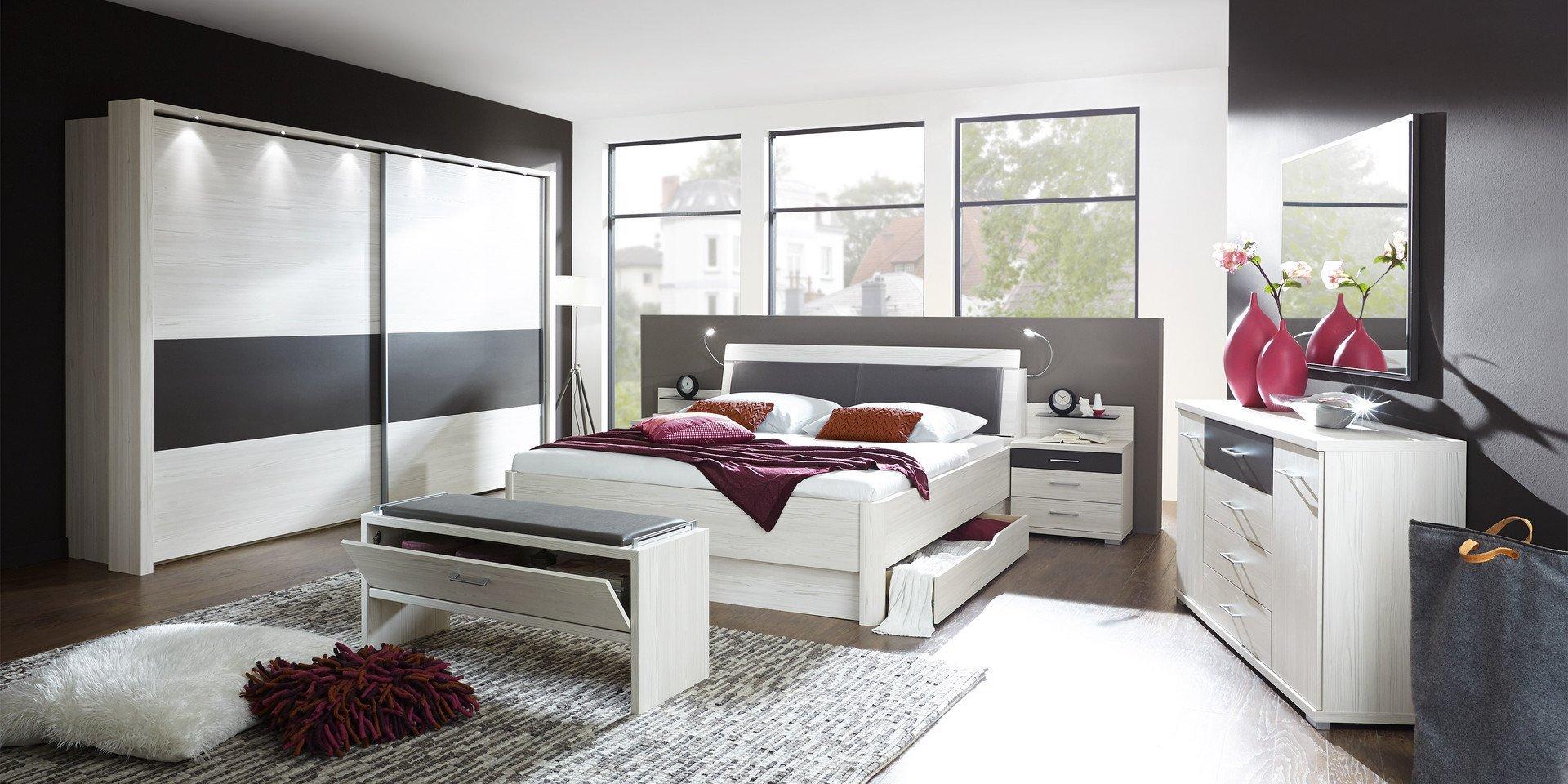 Schlafzimmer Lissabon Variante 1 von Wiemann Möbel