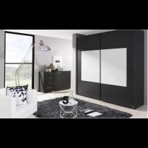 Schwebetürenschrank X-trend frame-2 Wellenglas von Rauch Möbelwerke Dialog