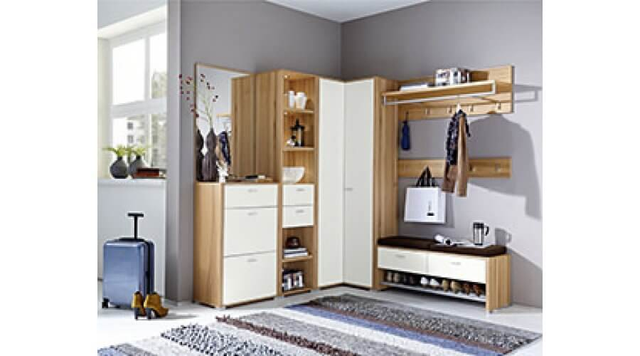 eck garderobe florenz 3890 von leinkenjost. Black Bedroom Furniture Sets. Home Design Ideas