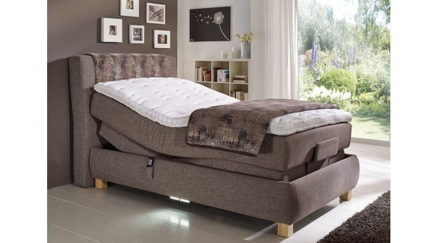 boxspring bett 2500 xl variante 1 mit motor von oschmann. Black Bedroom Furniture Sets. Home Design Ideas
