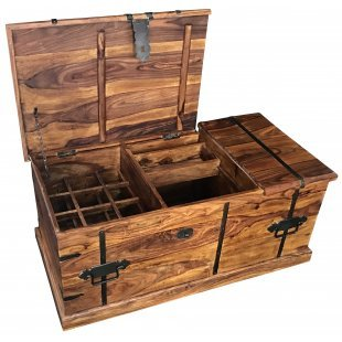 """Couchtisch- Bar- Box GAN-712 """"Indische Massiv- Holz- Möbel"""""""