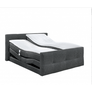 Boxspring Bett Illinois D 1 mit Motor von Black Red Whithe